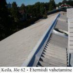 Keila, Jõe 62 - Eterniidi vahetamine, roovituse remont, korstende ladumine