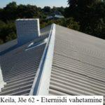 Keila, Jõe 62 - Eterniidi vahetamine, roovituse remont, korstende ladumine tööd